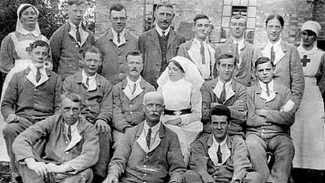 Nurses and patients from Shepreth hospital
