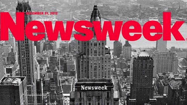 The final print edition of Newsweek magazine