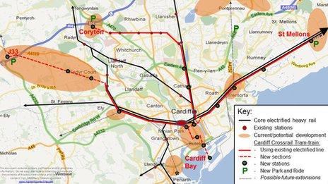 Diagram of proposed cross rail scheme