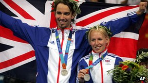 Nathan Robertson and Gail Emms collect Olympic silver in Athens
