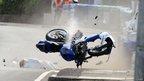 Tyco Suzuki rider Guy Martin crashes
