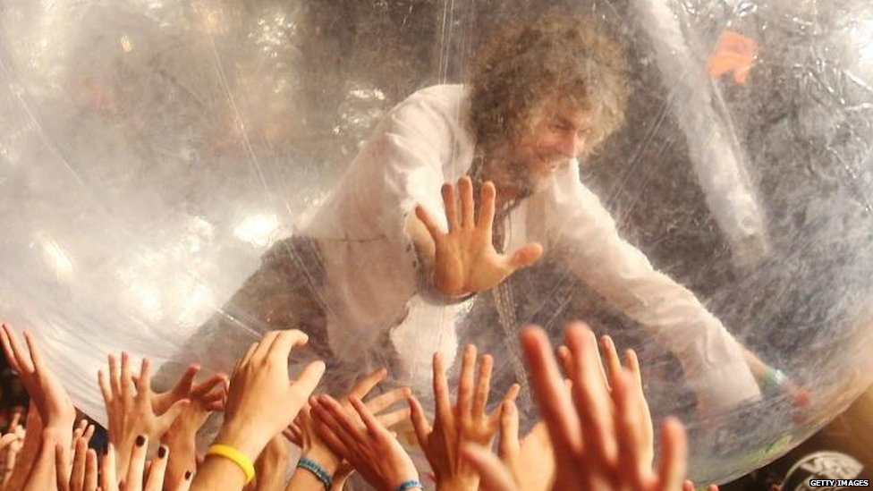 Wayne Coyne of  US rock band The Flaming Lips