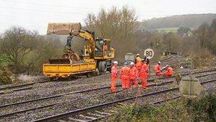 Repairs on railway lines