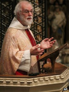 The Archbishop of Canterbury Dr Rowan Williams delivers his final sermon at Canterbury Cathedral on 30 December