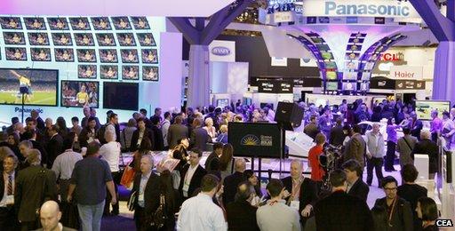 CES 2012 showroom floor