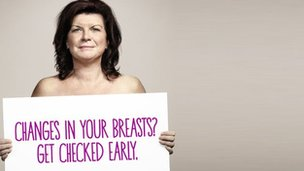 Elaine C Smith in breast cancer advert