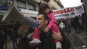 Portuguese CGTP union stages anti-austerity march, 15 Dec 12