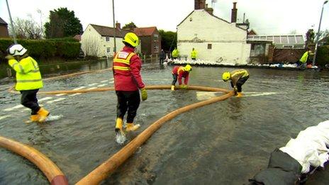 Flooding in Burton Fleming