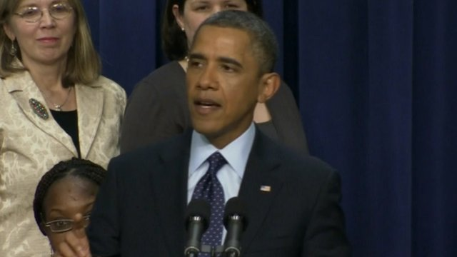 President Obama making a statement on fiscal cliff negotiations 