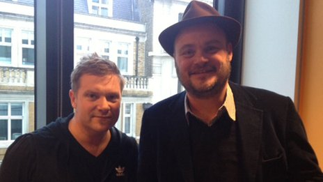 Al Murray (right) with drummer Craig Blundell