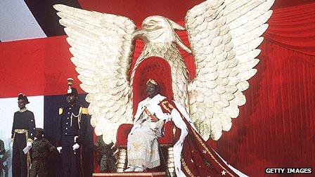 Central African Republic's President Jean-Bedel Bokassa
