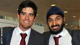 Alastair Cook and Monty Panesar