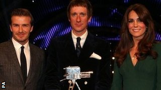 David Beckham, Bradley Wiggins (centre), Duchess of Cambridge