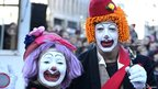 Clowns in New Year's Day Parade