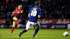 Craig Bellamy puts Cardiff City ahead in their Championship game at Leicester City