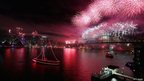 Fireworks in Sydney on 1/1/13