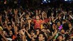 New Year celebrations in Rangoon, Burma, on 1/1/13