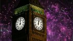 Fireworks explode over Elizabeth Tower housing the Big Ben clock to celebrate the New Year in London, 1 January 2013.