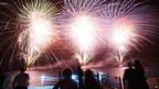 Fireworks lit up the sky over Dakar, Senegal, 1 Jan 2013.