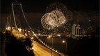 San Francisco fireworks on 1 Jan 2013.