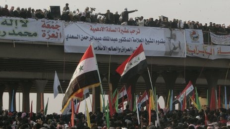 Protesters in Ramadi