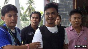 Ekkapan Kaewkla  with police