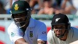 South Africa's Alviro Petersen aims a reverse sweep