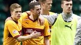 Motherwell forward Jamie Murphy (centre)