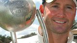 Australia captain Michael Clarke with the Border-Gavaskar Trophy