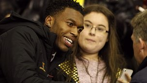 New Liverpool signing Daniel Sturridge at Anfield