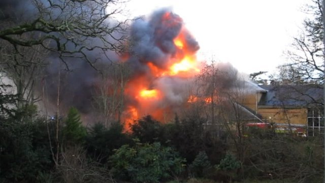 The fire at Lytchett Minster Upper School on 27 December 2012