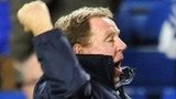 QPR boss Harry Redknapp celebrates his side's win over Chelsea
