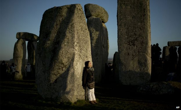 Winter solstice at Stonehenge, when the site is opened to New Age followers and members of the public