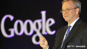 Google's CEO, Eric Schmidt