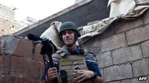 James Foley in Aleppo on 5 November 2012