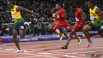 Jamaica's Usain Bolt wins the men's 100m Olympic final