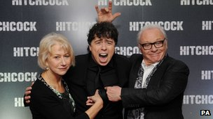 Dame Helen Mirren, Sacha Gervasi and Sir Anthony Hopkins