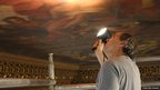 Stephen Paine of conservation firm Paine and Stewart undertaking the status report on the paintings of the Painted Hall in 2012