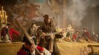 Johnny Depp as Jack Sparrow in Pirates of the Caribbean: On Stranger Tides