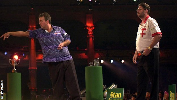 Phil Taylor and Martin Adams