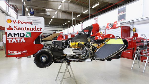 Ferrari build a Formula 1 car at their Maranello factory