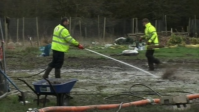 Clear-up operation in Burghfield