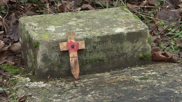 Grave of World War I hero Arthur Drummond Borton