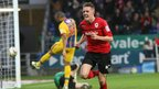 Craig Noone celebrates after his equalising goal brings Cardiff back to 1-1 against Crystal Palace