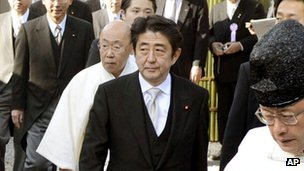 File photo: Japan PM Shinzo Abe