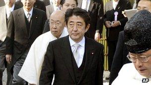 File photo: Japan PM Shinzo Abe