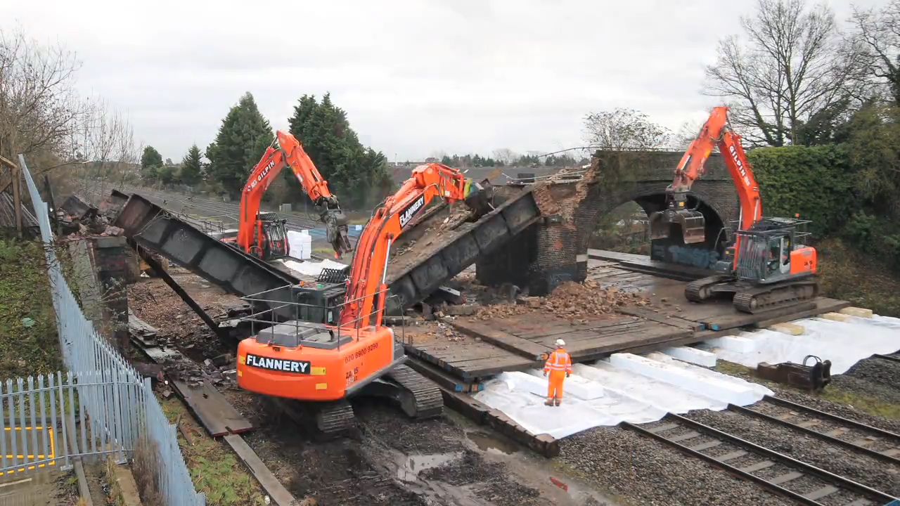 Demolition of bridge