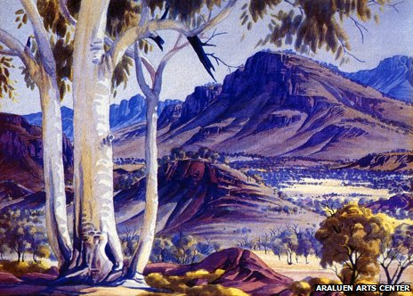 Blue Haze over James Range by Albert Namatjira