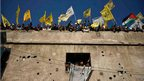 Palestinians mark the 48th anniversary of the founding of the Fatah party, Gaza, 4 January