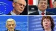 The EU chiefs (clockwise) - Van Rompy, Barroso, Ashton, Buzek